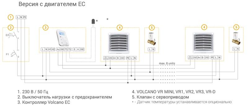 Схема подключения Volcano VR-D MINI EC