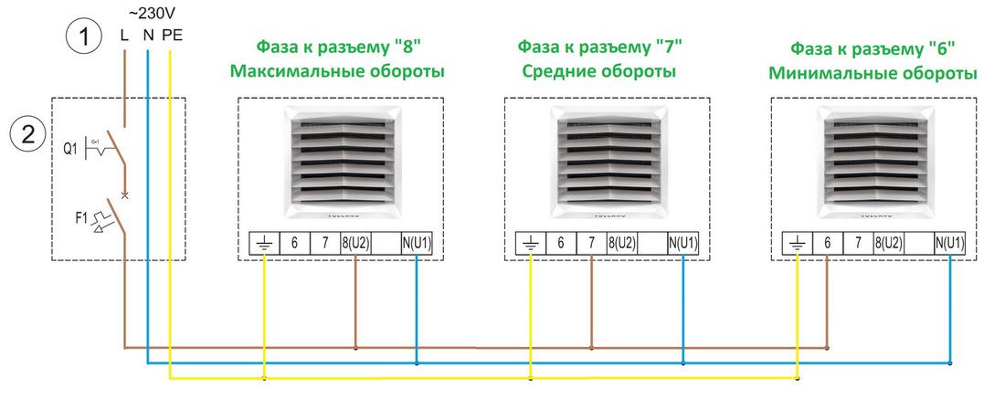 Способ подключения тепловентилятора 1