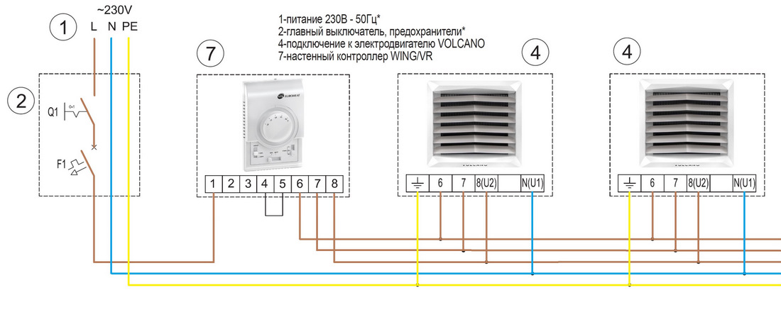 Способ подключения тепловентилятора 2