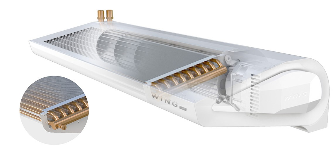 Водяная тепловая завеса Wing W100