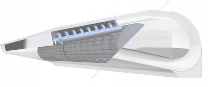 Тепловая завеса Wing - структура воздухозабора