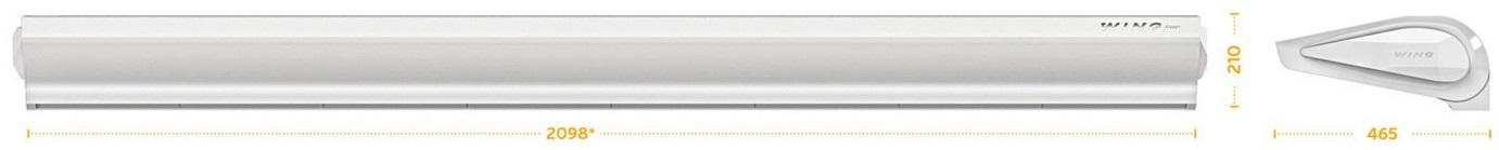 Габаритные размеры электрической тепловой завесы E200